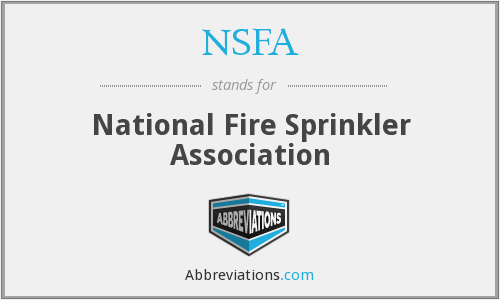 NSFA - National Fire Sprinkler Association