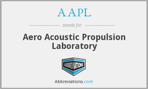 AAPL - Aero Acoustic Propulsion Laboratory