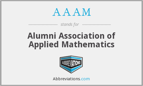 AAAM - Alumni Association of Applied Mathematics