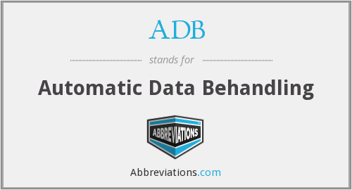 ADB - Automatic Data Behandling