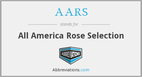 AARS - All America Rose Selection