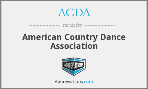 ACDA - American Country Dance Association