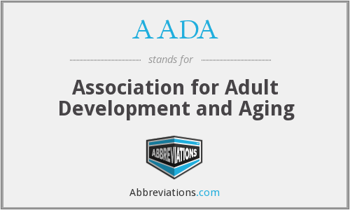 AADA - Association for Adult Development and Aging