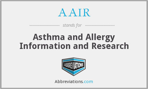 AAIR - Asthma and Allergy Information and Research