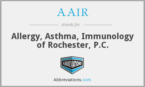 AAIR - Allergy, Asthma, Immunology of Rochester, P.C.