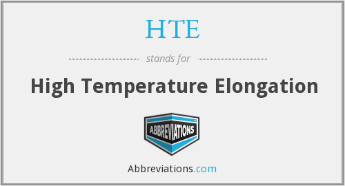 HTE - High Temperature Elongation