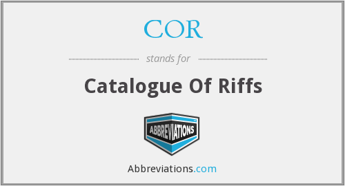 What does riffs stand for?