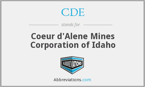 CDE - Coeur d'Alene Mines Corporation of Idaho