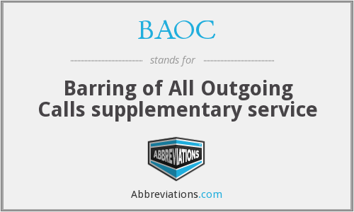 What does BAOC stand for?