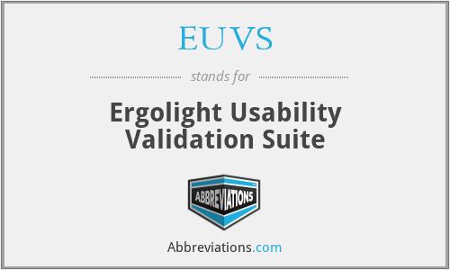 EUVS - Ergolight Usability Validation Suite