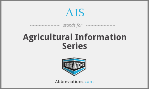 AIS - Agricultural Information Series