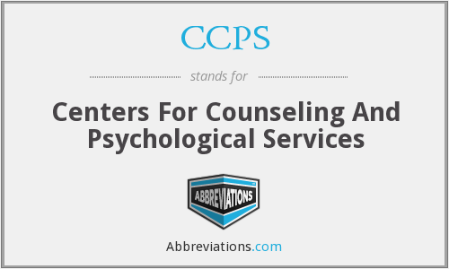 CCPS - Centers For Counseling And Psychological Services