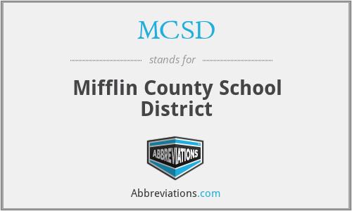 MCSD - Mifflin County School District