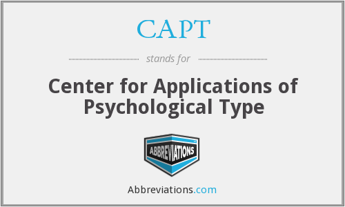 CAPT - Center for Applications of Psychological Type