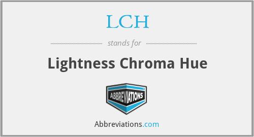 LCH - Lightness Chroma Hue