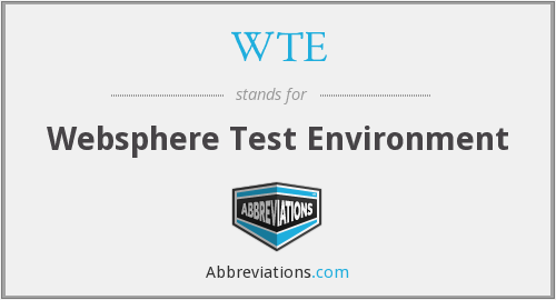 WTE - Websphere Test Environment