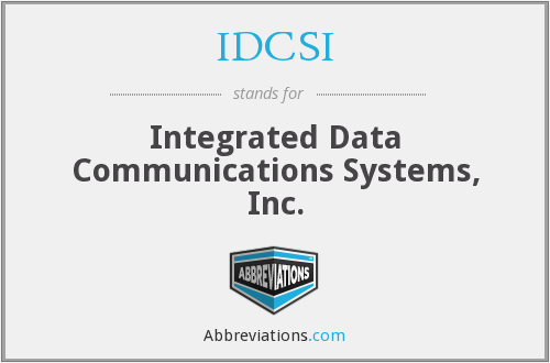 What does IDCSI stand for?
