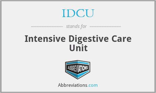 IDCU - Intensive Digestive Care Unit