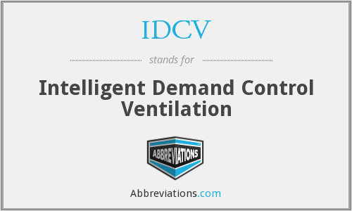 IDCV - Intelligent Demand Control Ventilation
