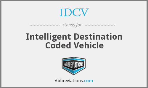 IDCV - Intelligent Destination Coded Vehicle