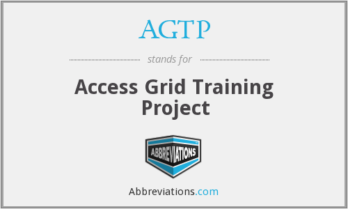 AGTP - Access Grid Training Project
