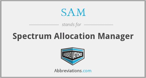 SAM - Spectrum Allocation Manager