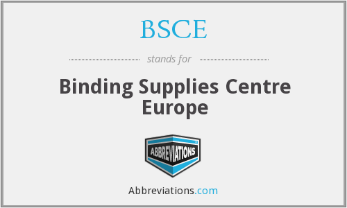 BSCE - Binding Supplies Centre Europe