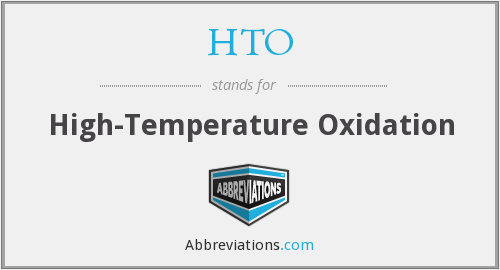 HTO - High-Temperature Oxidation