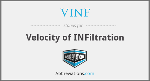 What does VINF stand for?