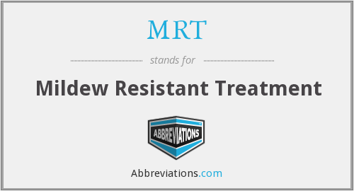 MRT - Mildew Resistant Treatment