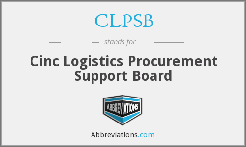 What does CLPSB stand for?