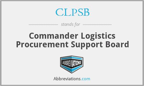 CLPSB - Commander Logistics Procurement Support Board