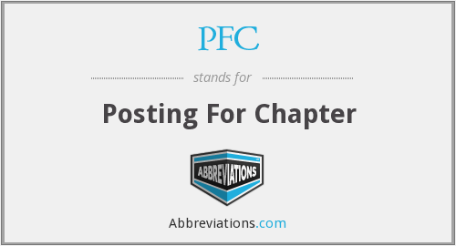 PFC - Posting For Chapter
