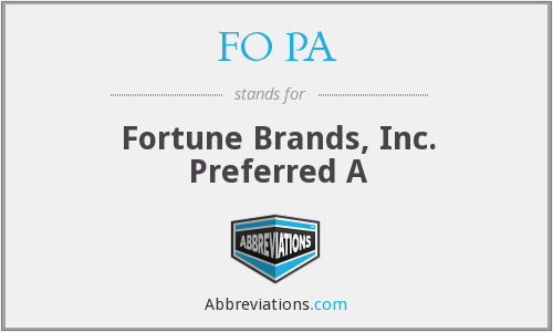 What does FO PA stand for?