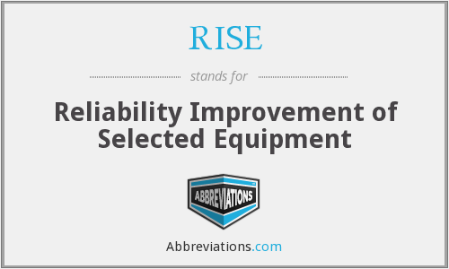 RISE - Reliability Improvement of Selected Equipment