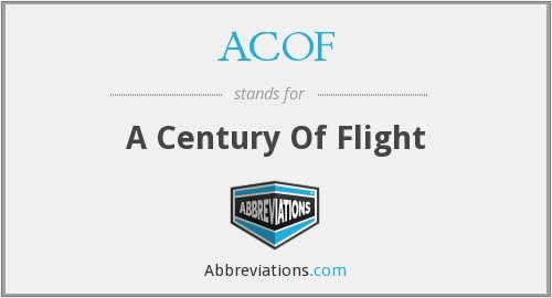 ACOF - A Century Of Flight