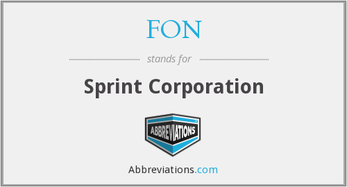 FON - Sprint Corporation