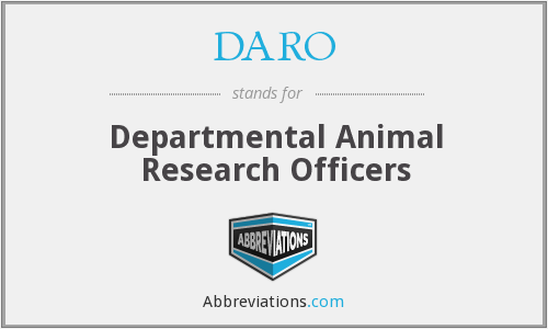 DARO - Departmental Animal Research Officers