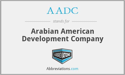 AADC - Arabian American Development Company