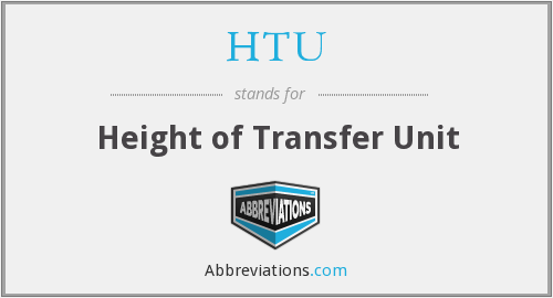 HTU - Height of Transfer Unit