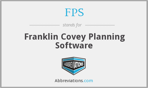 FPS - Franklin Covey Planning Software