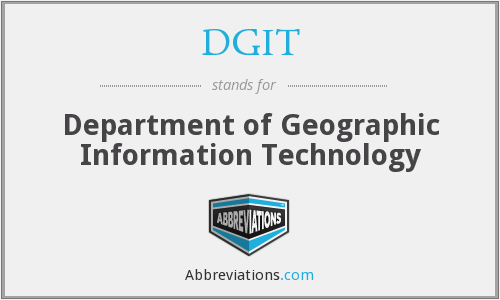DGIT - Department of Geographic Information Technology