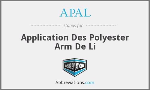 APAL - Application Des Polyester Arm De Li