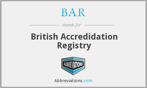 BAR - British Accredidation Registry