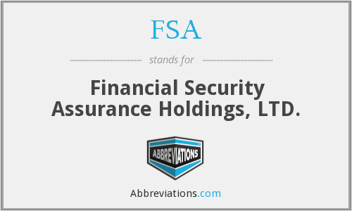 FSA - Financial Security Assurance Holdings, LTD.