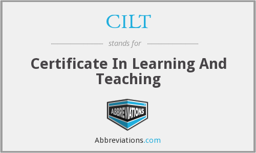 CILT - Certificate In Learning And Teaching