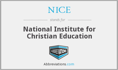 NICE - National Institute for Christian Education