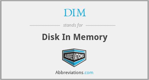 DIM - Disk In Memory