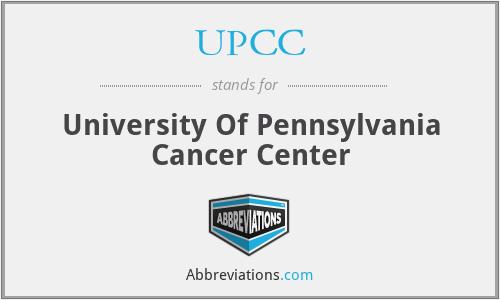 UPCC - University Of Pennsylvania Cancer Center