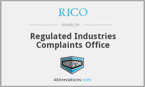RICO - Regulated Industries Complaints Office